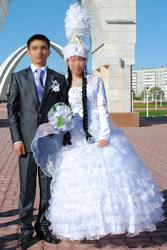 Казахское национальное свадебное платье
