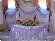 Свадебное оформление президиумов молодоженов,  акжол,  стойки с цветами