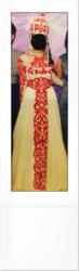 казахское платье на узату той. золотая пуговица. саукеле. сваровски