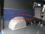 Защита колёсных арок в микроавтобус Фольксваген Крафтер серого