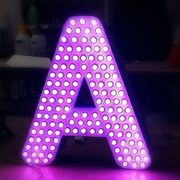 Объёмные световые буквы, элементы с пикселями(изготовление, монтаж)